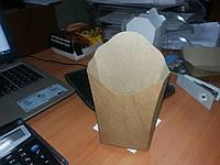 Упаковка для  фри мини в наличии из крафт картона