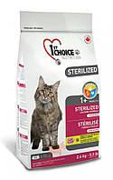 Sterilized для кастрированных котов и стерилизованных кошек (Фест Чойс) 1st Choice (2.4 кг)
