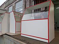 Прилавки ДСП, витрины ДСП , торговые витрины ДСП, торговые прилавки, витрина под стеклом, торговое место ДСП, , фото 1