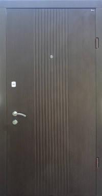 Входные двери Берез Веро модель Лайн ND венге темный 850/950*2040 мм, фото 2