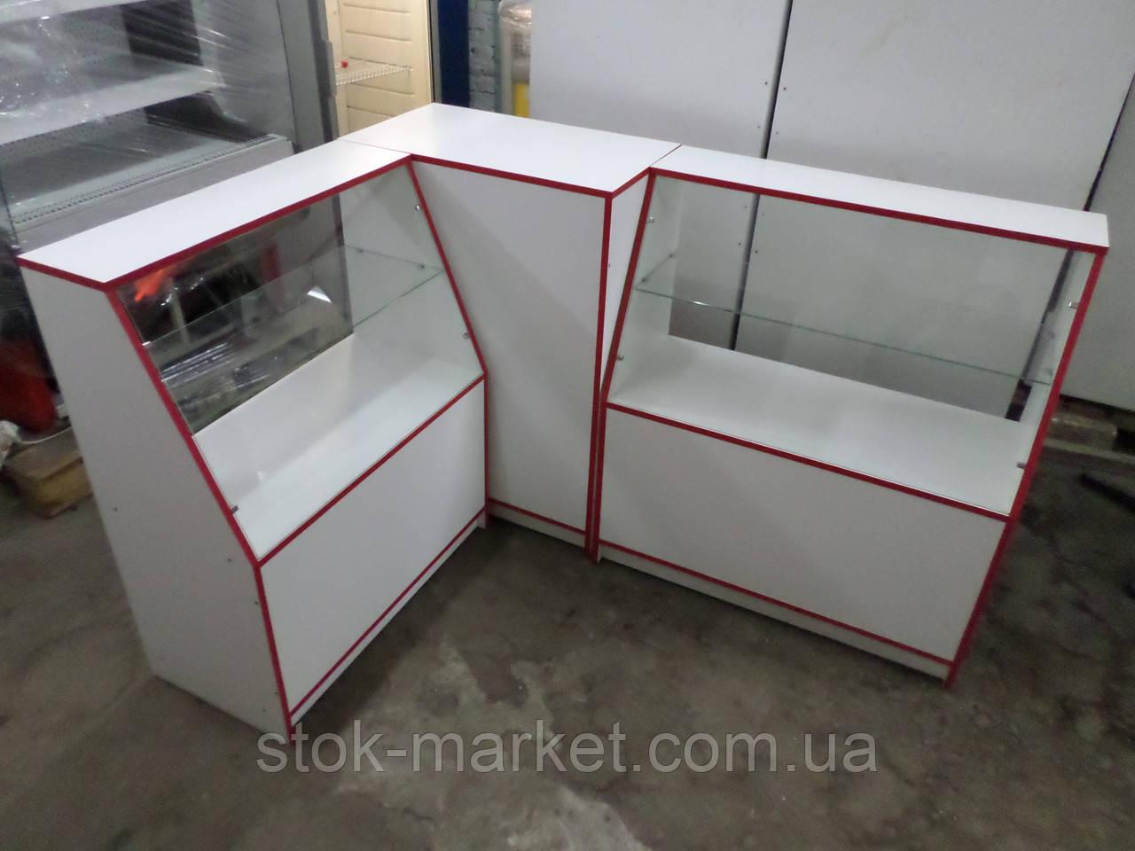 Прилавки ДСП б/у, витрины ДСП б/у, торговые витрины, торговые прилавки, витрина под стеклом, торговое место, в