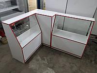 Прилавки ДСП б/у, витрины ДСП б/у, торговые витрины, торговые прилавки, витрина под стеклом, торговое место, в, фото 1