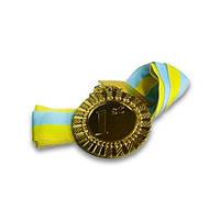 Медали спортивная ( 1 место - золото;металл, d-6,5см, 38g, на ленте)