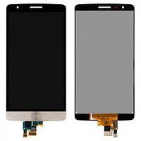 Дисплей (экран) для LG G3s D724 с сенсором (тачскрином) золотистый