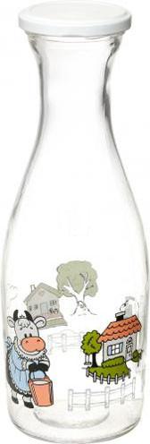 Бутылка стеклянная для молока 1л.
