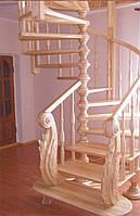 Лестница винтовая из дерева