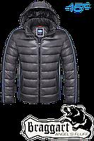 Мужской серый зимний пуховик Braggart Angel`s Fluff арт. 1185