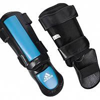 Adidas Защита голени и стопы для тайского бокса Adidas Pro Style черно-синяя