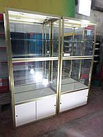 Витрина стекляная, прилавок под стекло, стеллаж стекляный, витрина для выставки товара под стеклом, шкаф со ст, фото 1