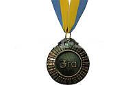Медаль спортивная (3 место;бронза;металл, d-6,5см, 38g, на ленте)