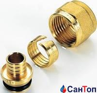 Резьбовое соединение Tiemme 16-2,0 х 3/4 латунное для металлопласт. трубы