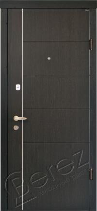Входные двери Берез Стандарт модель Аризона венге темный 850/950*2040 мм
