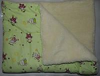 Одеяло и подушка в детскую кроватку ( на меху)