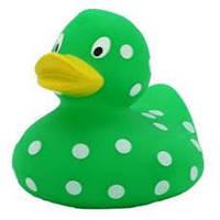 Зеленая в горошек утка