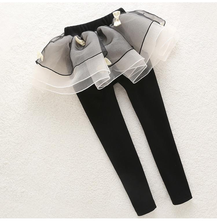 Лосины для девочки черные с пышной юбкой