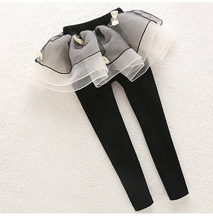 Лосины для девочки черные с пышной юбкой, фото 2