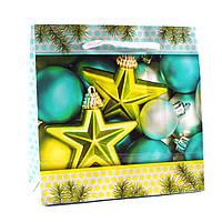 Подарочный пакет новогодний 11-12-1121 (16 х 16 х 7,6 см)