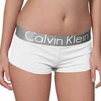 Женские трусики-шорты Calvin Klein steel, белые, фото 1