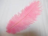 Перо страуса 25-30 см рожеве