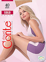 Conte Solo капроновые колготки 40 Den 2 размер, цвет мокко