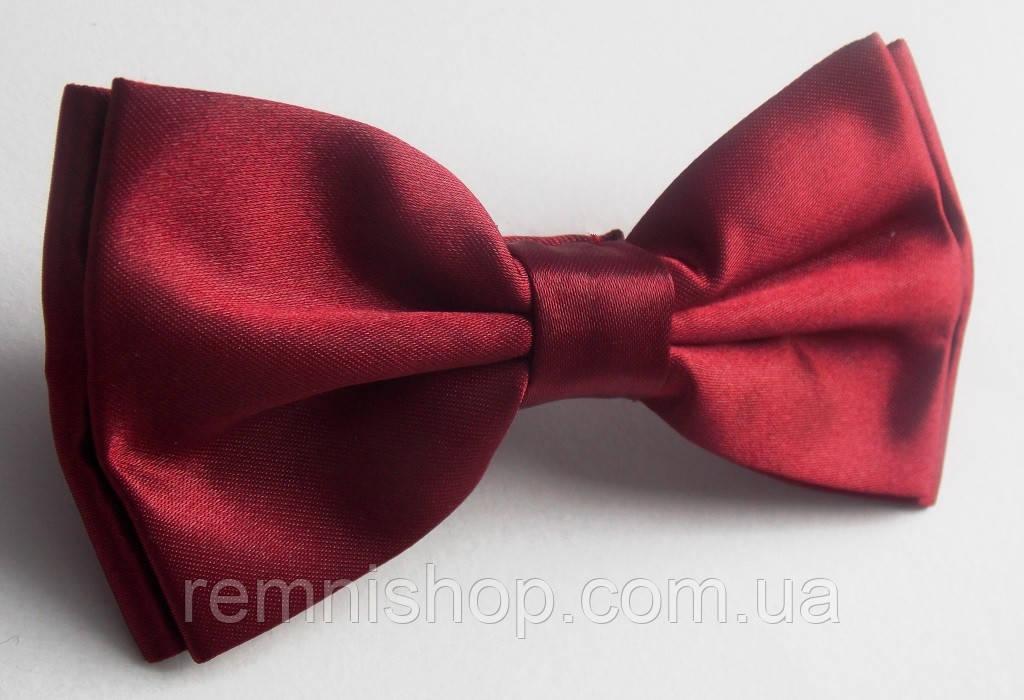 Бордовая бабочка галстук Roberto Cassini