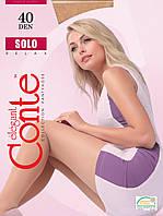 Conte Solo капроновые колготки 40 Den 2 размер, цвет черный