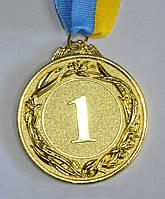 Медали спортивная ( 1-3 место ;металл, d-6,5см, 38g, на ленте)