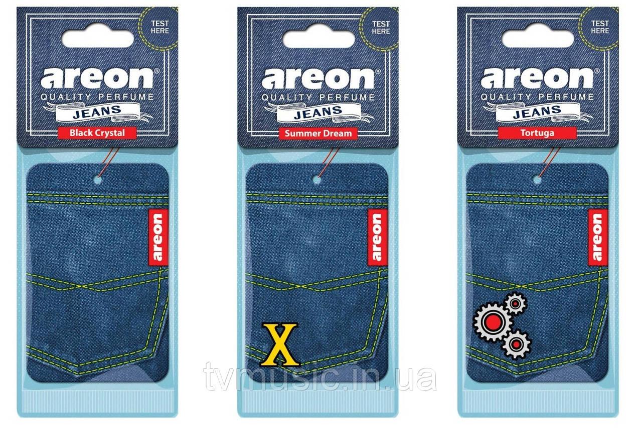 Ароматизатор Areon Jeans сухой листочек