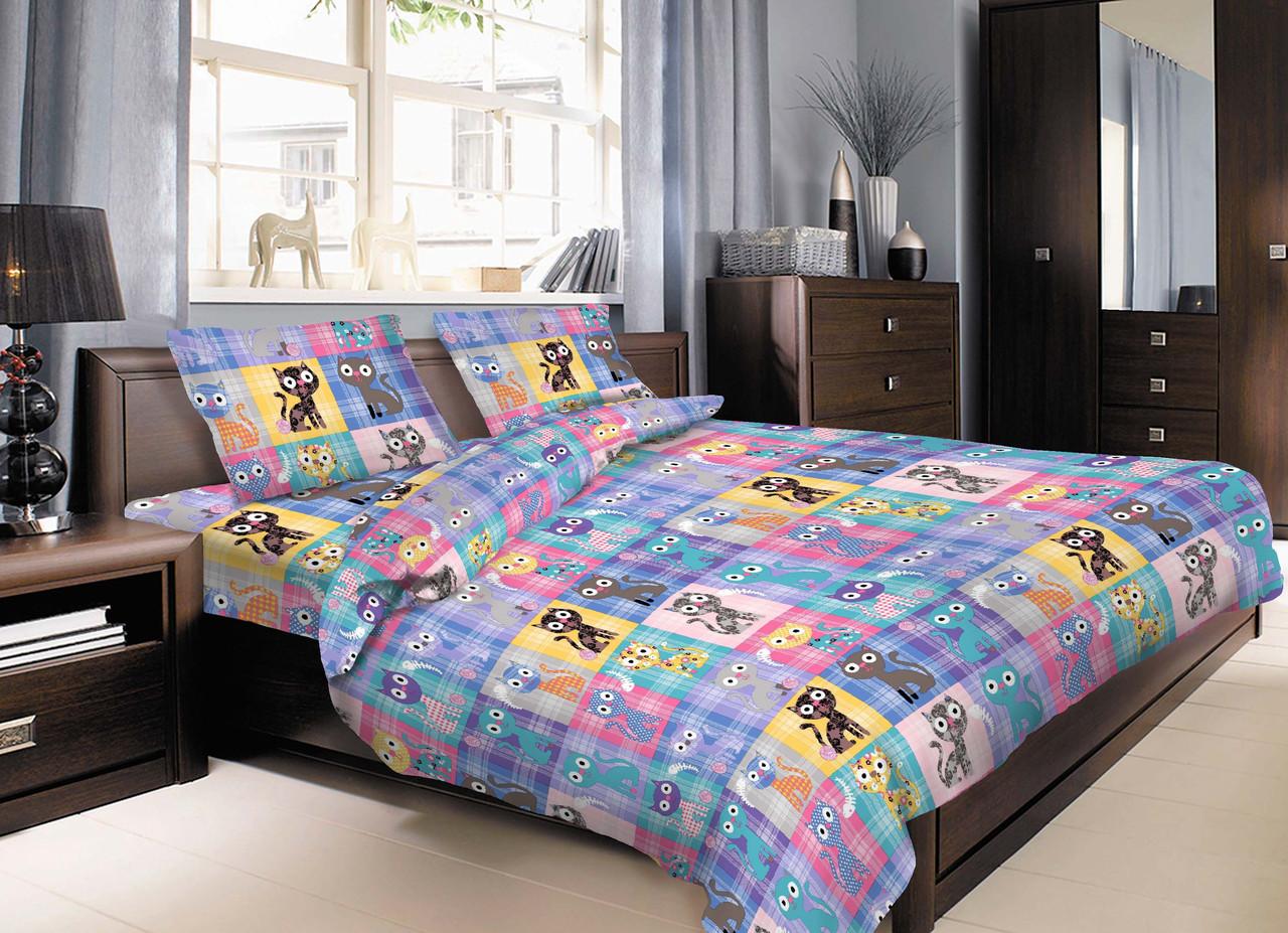 Комплект в кроватку с котами