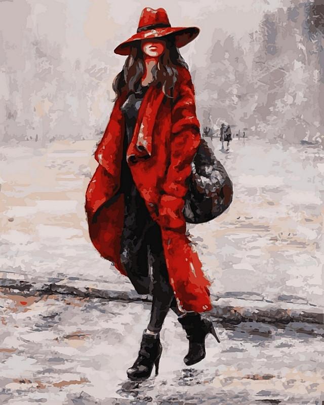 Картины по номерам 40×50 см. Красный - мой цвет!
