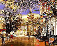 Картины по номерам 40×50 см. Дождь Весна Лавра Художник Сергей Брандт, фото 1