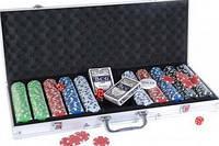 Набор для игры в покер в алюминиевом кейсе 500 фишек Duke CG-11500