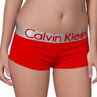 Женские трусики-шорты Calvin Klein steel, красные, фото 1