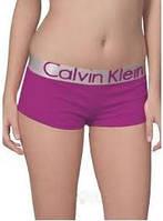 Женские трусики-шорты Calvin Klein steel, фиолетовые, фото 1