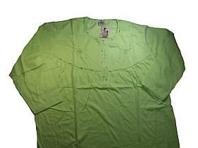 Ночная рубашка женская трикотажная с начесом, размер М-3XL, арт. 102