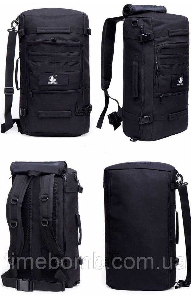 f02bc8098062 Дорожная армейская тактическая сумка рюкзак 50L черная  продажа ...