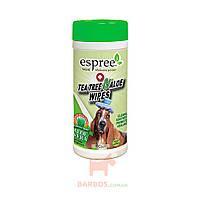 Tea Tree&Aloe Wipes Влажные салфетки для cобак с маслом чайного дерева и алое (Эспри) Espree
