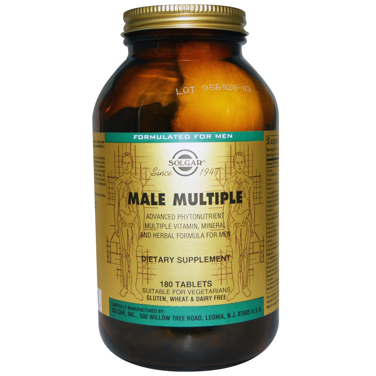 Мультивитамины для мужчин Солгар Male Multiple 180 таблеток. Сделано в США.