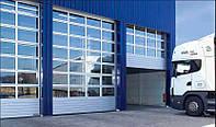 Промышленные ворота из панорамных панелей DoorHan ISD02