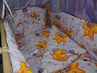 Постельное белье для детей 7 В 1 Мишки горошек фиолетовый (без балдахина)