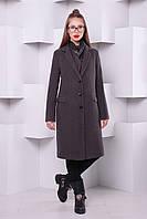 """Утепленное пальто """"Классик №2"""" из кашемира р.40-46 серый"""