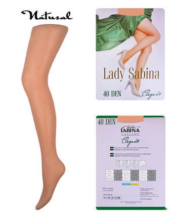 Колготки Lady Sabina 40 den Elegant Natural р.3 (LS40El) | 5 шт., фото 2
