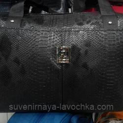 Дорожная сумка городская Саквояж Иск.Кожа 1