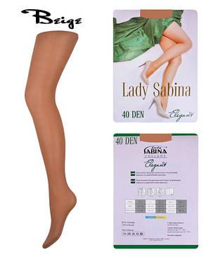Колготки Lady Sabina 40 den Elegant Beige р.2 (LS40El) | 5 шт., фото 2