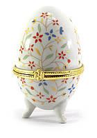 Шкатулка в форме яйца Полевые цветы