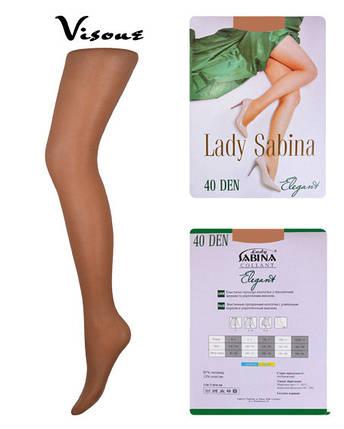 Колготки Lady Sabina 40 den Elegant Visone р.2 (LS40El) | 5 шт., фото 2