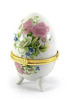 Маленькая шкатулка в форме яйца Розы