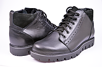 Модные зимние мужские ботинки Мида 14874 из натуральной кожи.