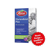 Abtei Mariendistel Plus Kapseln - Расторопша пятнистая плюс экстракт артишока и витамин E, 30 капсул
