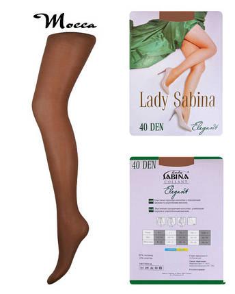 Колготки Lady Sabina 40 den Elegant Mocca р.3 (LS40El) | 5 шт., фото 2